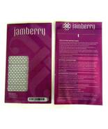 Jamberry Nail Wraps DELIGHT FULL SHEET Purple & White Diamond Shape - $5.82