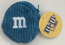 M&M's World Blue Logo Coin Purse Plush New with Tags - $8.01