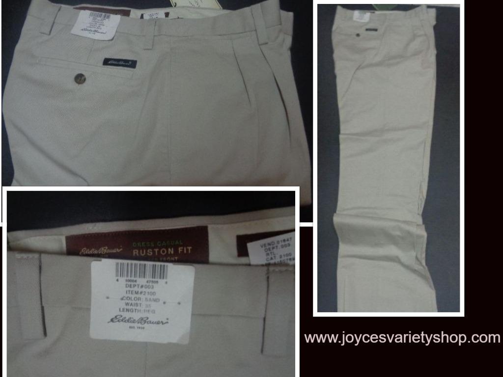 Eddie bauer khaki pants web collage