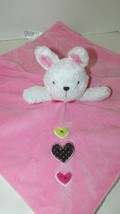Carters Just One You Bunny Pink Security Blanket  rattle 3 hearts white ... - $9.89