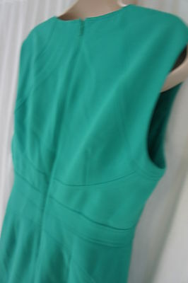 Anne Klein Pequeña Vestido 8P Kelly Verde con Textura A-Line sin Mangas Trabajo image 8
