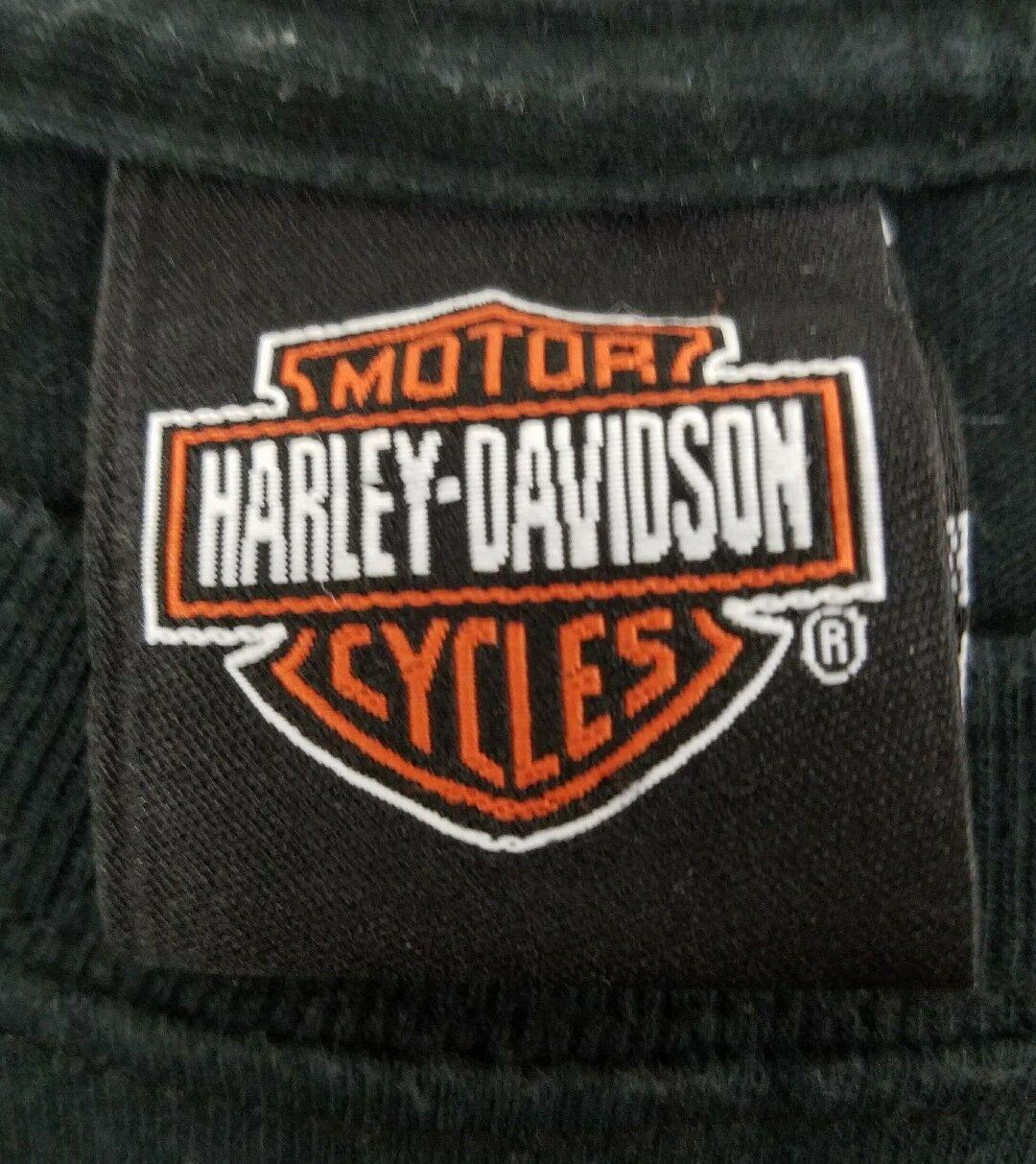 Harley Davidson Plainfield Indiana I-70 Black S/S Men's Motorcycle T Shirt XXL image 5