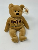 "Myrtle Beach Hard Rock Cafe Plush Teddy Beanie Bear Brown 8"" Isaac Beara... - $9.49"