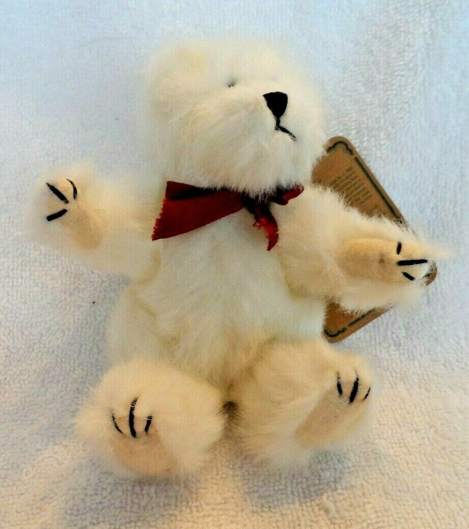 "Primary image for Tiny 6""  White Boyds bear Archive Collection ""Thatcher"""