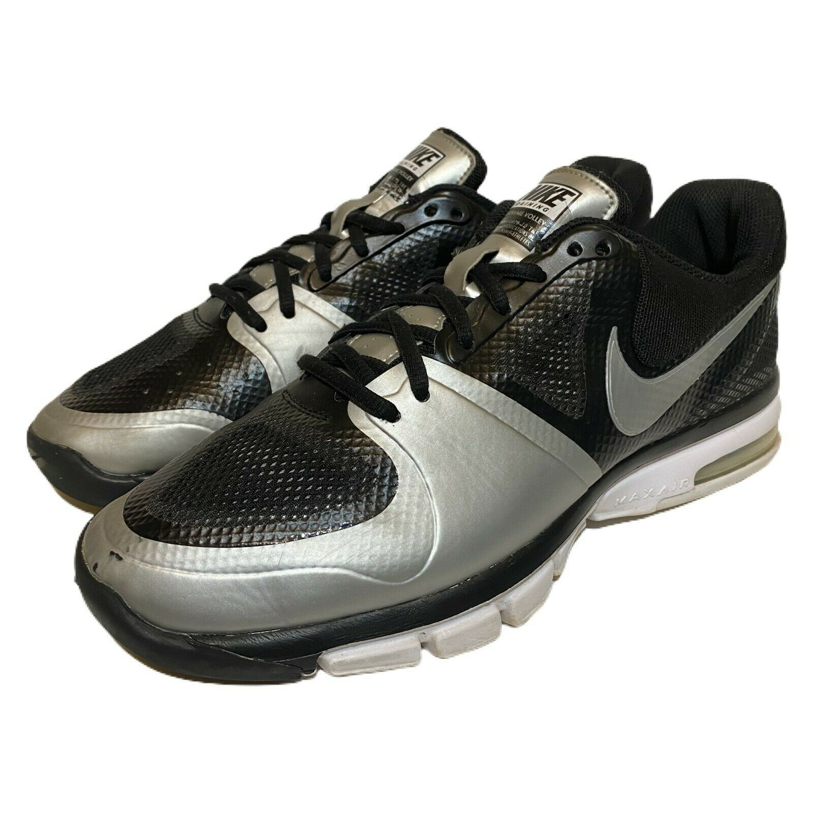 Primary image for Nike Women Air Extreme Volley Black Silver Volleyball Shoes 442249-001 Size 10.5