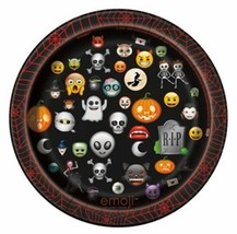 "Emoji Halloween 8 Ct Paper 7"" Dessert Cake Plates - $3.59"