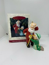 NIB 1993 Christmas Ornament Hallmark New A Fitting Moment Mr. Mrs. Claus... - $14.25