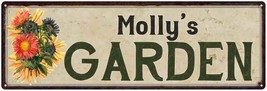 Molly's Garden Chic Flower Sign Vintage Décor 8x24 Metal Sign  8240017320 - £37.82 GBP