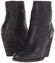 FRYE Cece Artisan Short Black LEATHER Wedge Heel Boots Size 11 Woman's NIB - $192.77