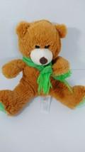 Animal Adventure plush Rust Brown teddy bear green scarf feet 2015 Sweet Sprouts - $8.90