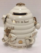 The New York Bank for Savings Bee Hive Mid Century Lego Japan Vintage - $35.63