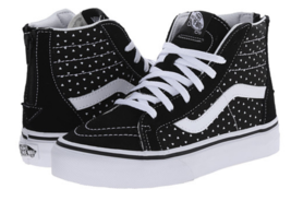 Vans Sk8-Hi Zip Size 13 M (Y) EU 30.5 Youth Kid's Shoes Black Hearts VN0... - $48.99