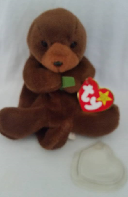 TY Beanie Babies Seaweed Otter PVC PELLETS Style # RARE ERRORS Retired
