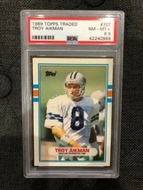 1989 Topps Traded Football #70T Troy Aikman PSA 8.5  Rookie - $13.72