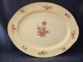 Homer Lauglin Priscilla Eggshell Nautilus Oval Serving Platter - $29.95