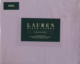 Ralph Lauren Dunham Lilac Lavender Light Purple Sheet Set King - $129.00