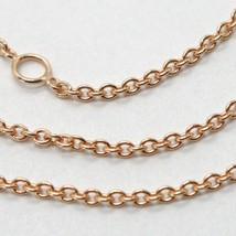 18K ROSE GOLD CHAIN 1.2 MM ROLO ROUND CIRCLE LINK, 17.7 INCHES, MADE IN ITALY  image 2
