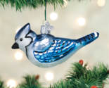 OLD WORLD CHRISTMAS BRIGHT BLUE JAY BIRD GLASS CHRISTMAS ORNAMENT 16121