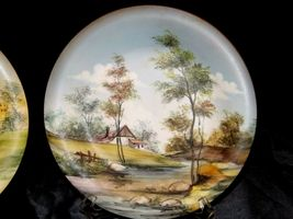 Bellagio Painted Italy Plates 10 inch AA19-1642 Vintage Pair image 3