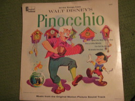 33RPM Vintage 1963 Original PINOCCHIO Walt Disney Soundtrack - $12.52
