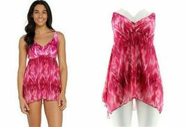 Ocean Dream Signature Native Batik Swim Dress Fuchsia 20 W - $29.69