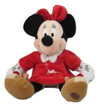 "Minnie Mouse Plush 15"" Christmas Disney Sleeper Holiday Reindeer Dress S... - $18.80"