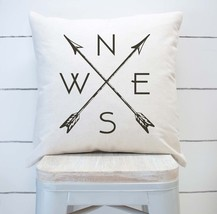 Compass and Arrows Farmhouse Pillow Cover - $17.99