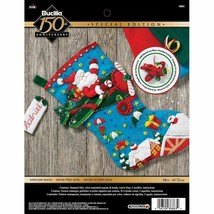 Bucilla 'Airplane Santa' Stocking Embroidery Applique  Kit-86863 - $24.99