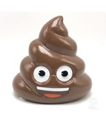 Poo Poop Emoji Brown Ceramic Coin Money Piggy Bank Novelty 5.04 X 4.88 I... - $24.99