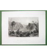 NIAGARA RIVER Outlet & Lake Ontario - Antique Print Engraving - $7.27