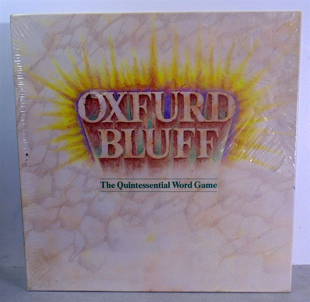Primary image for 1985 Oxfurd Bluff The Quintessential Word Game by Manvers Games Sealed and New