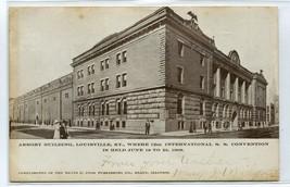 Armory Building Louisville Kentucky 1907c postcard - $5.89
