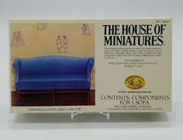 The House Of Miniatures Chippendale Sofa #40015 X-Acto Furniture New Open Box - $22.65