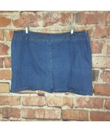St Johns Bay Womens Denim Skirt Size 26W Stretch Jean  - $19.80