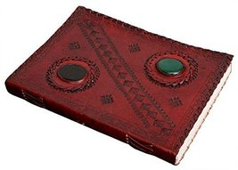 ININDIA Pure Genuine Real Vintage Hunter Leather Diary Leather Journal H... - $20.58