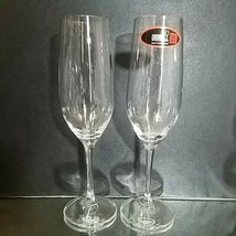 2 (Two) RIEDEL VIVANT Lead Free Crystal CHAMPAGNE FLUTES GLASSES - Signed - $17.09