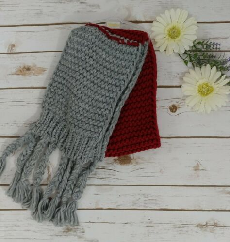 Gray And Burgandy Scarf