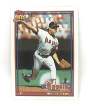 1991 Topps Baseball Card #477 - Mike Fetters - Los Angeles Angels - Pitcher - $0.99