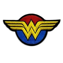 """WONDER WOMAN IRON ON PATCH 4"""" Female Comic Book Superhero Embroidered Ap... - $5.99"""