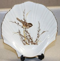 Vintage Otagiri Porcelain Plate or Trinket Dish Bird Pussy Willows Japan... - $15.83