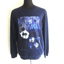 J-1213100 Neuf Alexander McQueen Bleu Marine Floral Veste Sweatshirt Tai... - $129.67