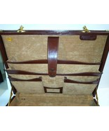 VintageTumi Leather Briefcase Vintage Attache Case Hard Sided Brass Acce... - $98.01