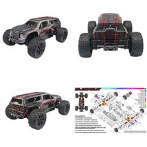 Redcat Racing Blackout Xte Pro 1/10 Scale Brushless Electric Monster Tru... - $344.61