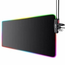 GIM RGB Gaming Mouse Pad, 4 USB Port, 14 Lighting Modes, 5mm Ultra Thick, - $42.34
