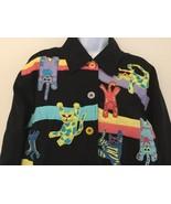 Women's Applique Cat Theme  Black Lined Jacket w Lavender Border Sz Peti... - $35.00