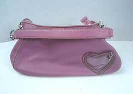 Liz Claiborne Small Pink Purse with heart - So pretty! - $15.79