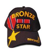 US Military Hat Bronze Star Medal Recipient Black Adjustable Cap - $12.95