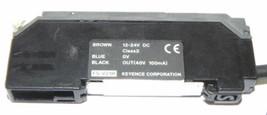 KEYENCE FS-V21R PHOTOELECTRIC FIBER OPTIC AMPLIFIER FSV21R, 12-24V DC