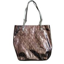 Michael Kors Jet Set Signature Tote Handbag Metallic Mirror Patent Leather - $69.99