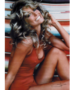 FARRAH FAWCETT POSTER RED SWIMSUIT 70s PIN-UP 1976 ORIGINAL SIGNATURE OOP - $49.99